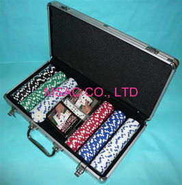 MS-Chip-13 Aluminium Chip Case Warna Hitam Poker Chip Display Case Untuk Pengepakan Pengepakan