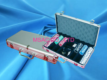 Profesional Aluminium Chip Case Mudah Carry Poker Chip Box Untuk Carry Chippers